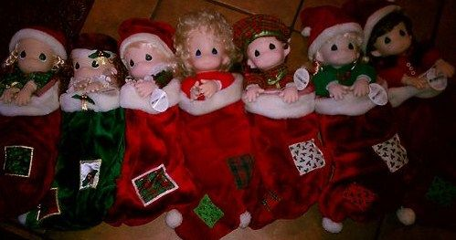 Collection of 8 Precious Moments Stocking Dolls - $55 (Baton Rouge)