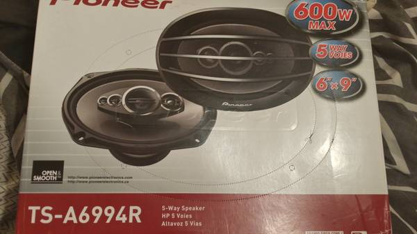 6x9 Pioneer 5-Way 600 Watt Car Stereo Speakers(New Never Used 1 Pair) - $70 (baton rouge)