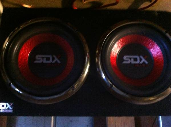 SDX Audio Speaker box and Amp - $100 (Denham Springs)