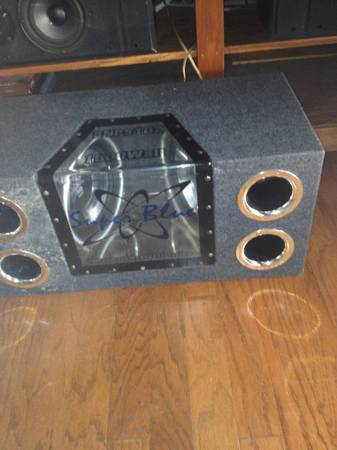 SUPER BLUE CAR SUBWOOFER (MILLERVILLE OLD HAMMOND)