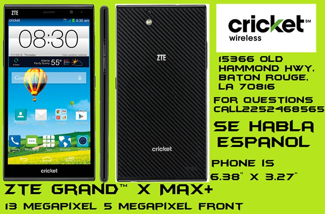 169  ZTE Grand X Max 15366 old hammond hwy