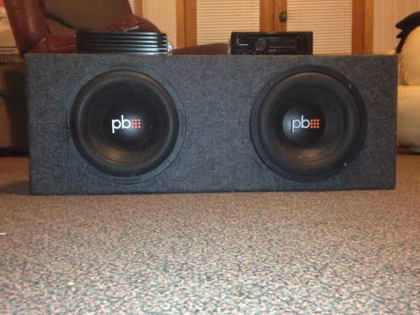 2 10 Powerbass Subs in box with 600 watt  and Pioneer radio - $300 (Baton Rouge)