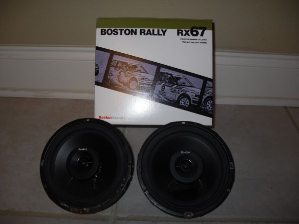 2 Boston Rally series 6.5 two-way speakers - $80 (Baton Rouge)