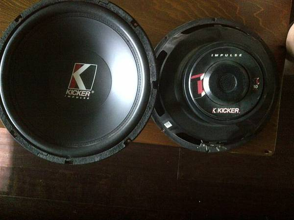 10 inch Kicker Impulse Speakers for SALE (BTR)