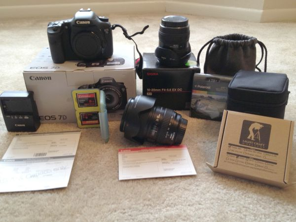 Canon EOS 7D w Lenses and EXTRAS - $2500 (Baton Rouge)
