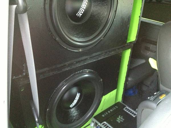 TWO 15 sundown audio subwoofers and Two CUSTOM boxes - $350 (denham springs)