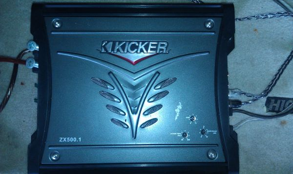 Kicker Solo Baric L5 15 Subwoofer w Kicker ZX-500.1 Amplifier - $275 (HighlandLSU)