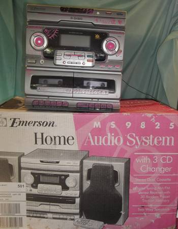 EMERSON HOME AUDIO SYSTEM w 3-CD Changer Remote - $30 (S. Baton Rouge)