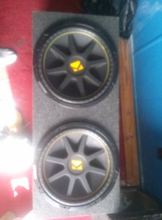 2 NEW 15 INCH KICKER COMP. 15s IN A NEW PORTED BOX - $200 (belle rose)