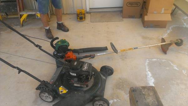 package deal push mower weedeater and blower - $150 (hammond)