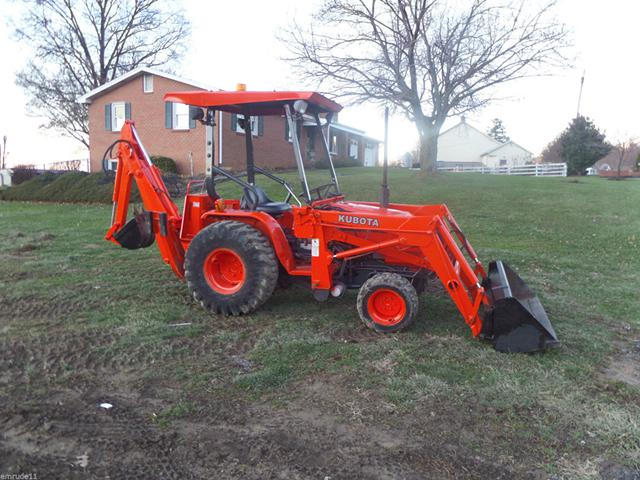 2 000  reduced Kubota B20 Construction Tractor 4WD Diesel Hydrostatic Loader Backhoe