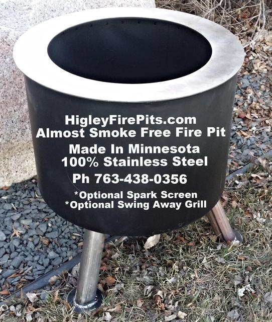 299  Smoke Free Back Yard Fire Pit -100 Stainless Steel-Life Time Warranty