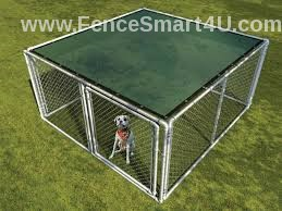 34  10 x 10 UV Rated Dog Kennel Shade Cover WGrommets zip ties included