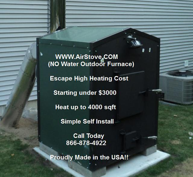 3 995  Outdoor Furnace - No Water- Heat 4000 Square Feet