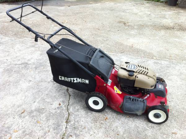 Sears Craftsman 21 cut 7 hp Self Propelled Lawn Mower wbag - $125 (Baton Rouge)