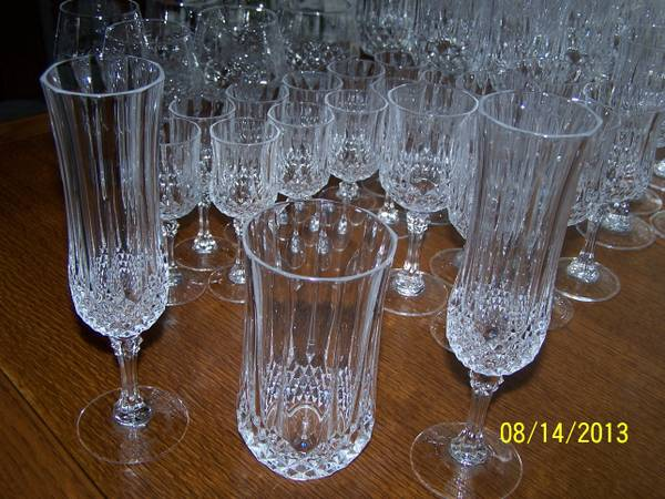CRISTAL D ARQUES LONGCHAMP LEAD CRYSTAL GLASSES - $250 (DUTCHTOWN)