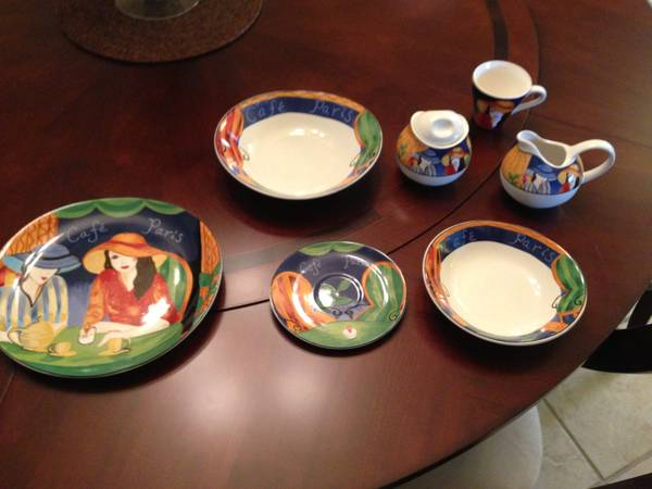 Sango Cafe Paris China set - $600 (Baton Rouge)