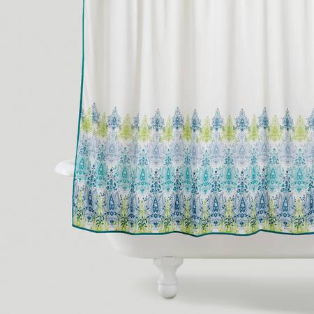 Cost Plus World Market Shower Curtain - Regular Retail $29.99 - $20 (Bluebonnet)