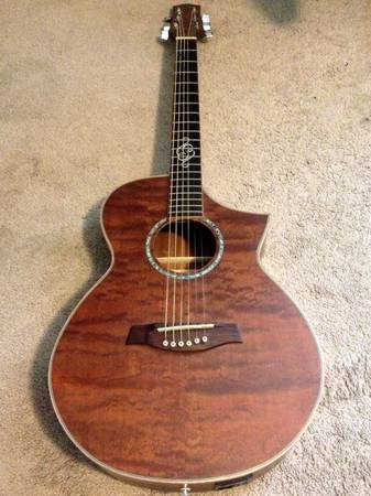 Quilted Mahogany Acoustic-Electric Guitar - $300 (Baton Rouge, LA)