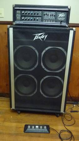 1978 Peavey Musician 400 head cabinet w4 button footswitch - $275 (Ethel, LA)