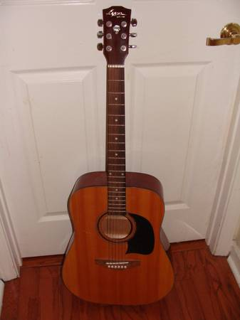 Lyon by Washburn Acoustic Guitar with built in tuner (used) - $65 (to be determined)