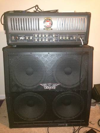 Peavey XXL head and Raven 4x12 cab half stack - $700 (Baton Rouge)