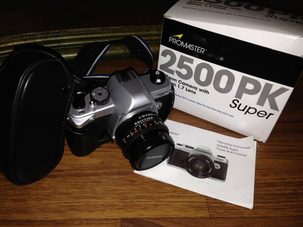 ProMaster 2500pk 35mm Super SLR Camera with 50mm 1.7 lens, case, box - x002475 (Baton Rouge)