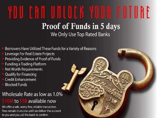 POF  HSBC  Top Banks  MT799  MT760  Trade  No Upfront Fees   1M- 1B  Fast SWIFT CALL 1-877-998-7539