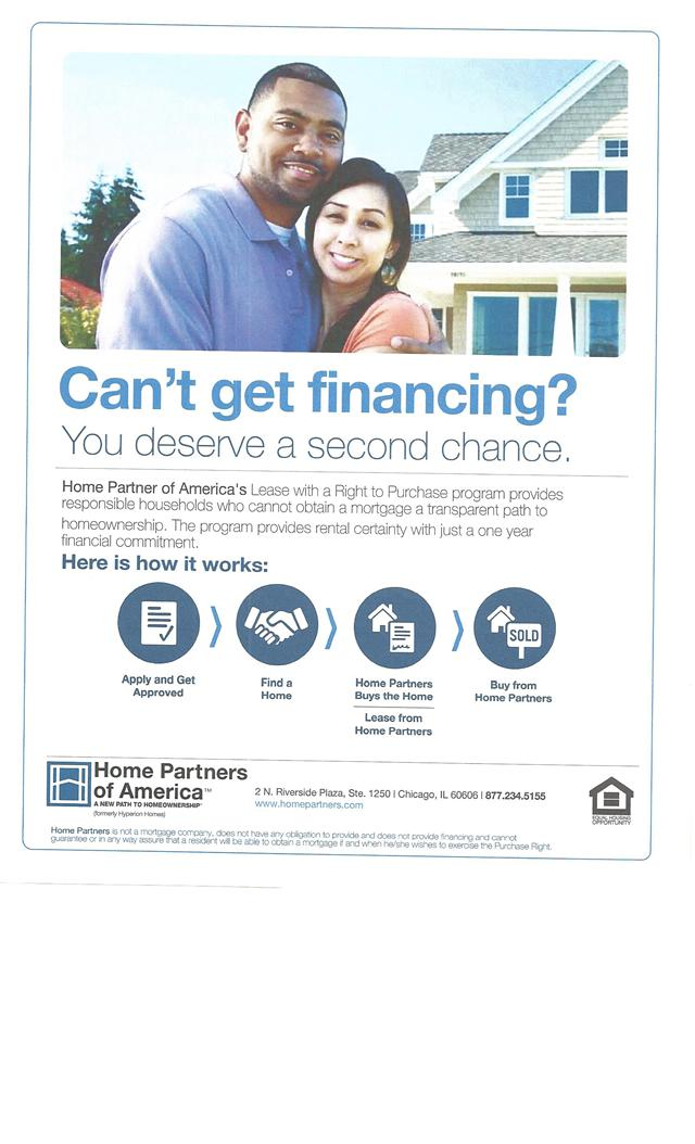 Great Program for 1st Time Buyers and 2nd Chances