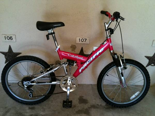 20 Full Suspension mtb Pink good condition READY TO TRAIL RIDE - $75 (Groves)