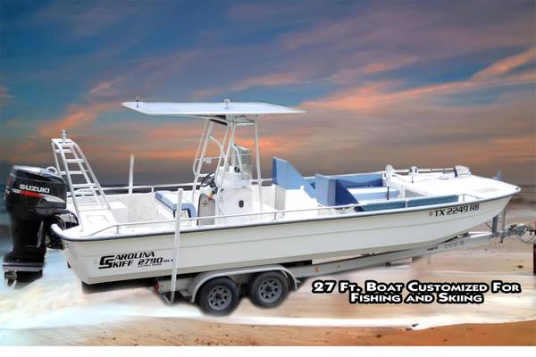 27 ft. Carolina Skiff DLX 2790 (low hrs) - $25000 (Mont Belvieu, TX)
