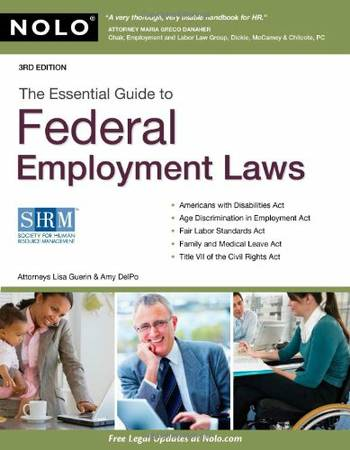 UH Textbook The Essential Guide to Federal Employment Laws - $43 (Houston, TX Galleria)