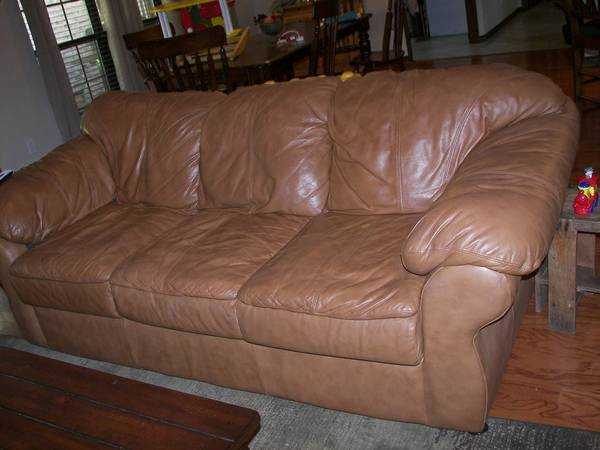 Sealy Leather Couch, Chair Ottoman - $800 (Silsbee)