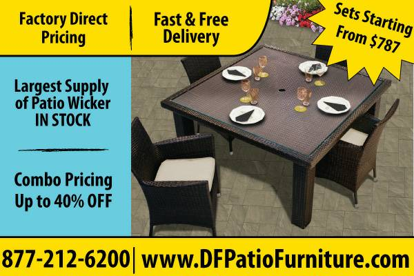 Wicker Furniture For Garden And Patio Furniture Needs To Go (Beaumont TX)