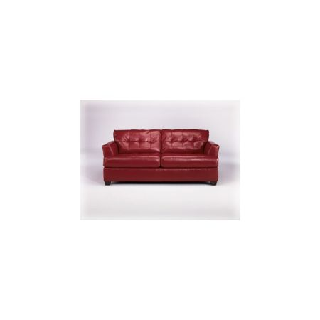 ONLY $399 for this great looking DuraBlend Sofa in scarlet - $399