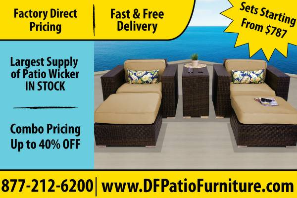 Comfy And New Wicker Patio Furniture For Sale  Wicker Outdoor And Lawn (Beaumont TX)