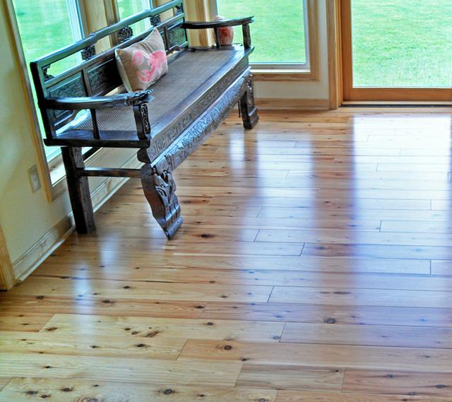 2  RUSTIC Hand Scrap HARDWOOD FLOORING WModern Flair