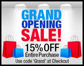 Grand Opening Sale 15 off entire purchase
