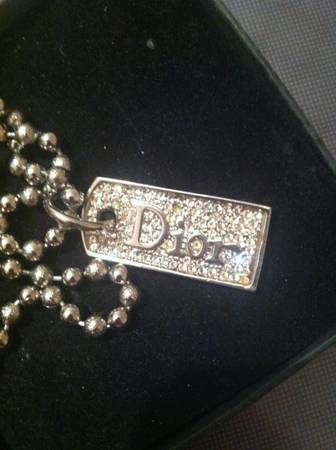 Dior dog tag necklace -  80  Groves