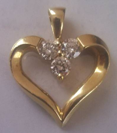 BEAUTIFUL LEO DIAMOND HEART PENDANT -   x0024 1000