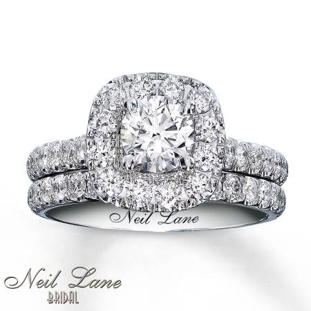 NEW  Neil Lane Bridal Set 1 7 8 ct 14k White Gold -   x0024 6800  Buna  Texas