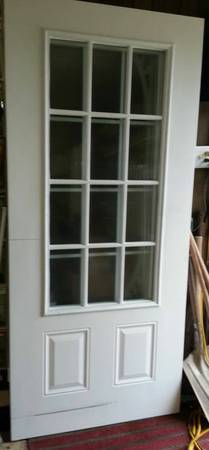 slab steel doors and screen door