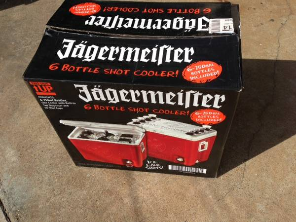 JAGERMEISTER Shot Cooler With Tap Dispenser Ice Chest - $35 (Port Neches)
