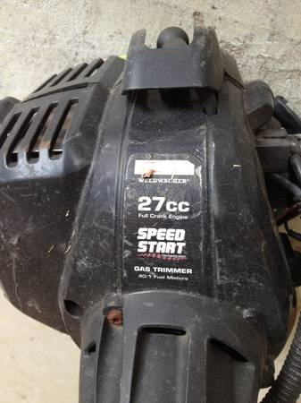 CRAFTSMAN PRO 27CC SPEED START GAS TRIMMER WITH ATTACHABLE BRUSH HEAD - $100 (KATY)