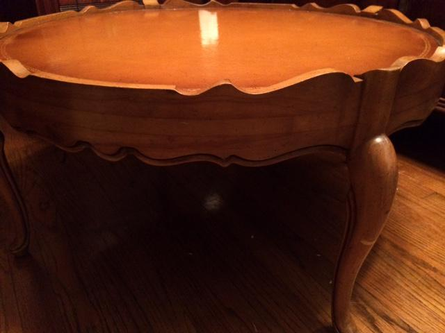 100  AntiqueVintage Round Coffee Table 1950s