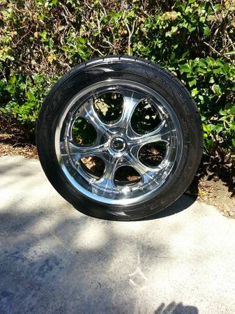 22 ZYOXX Rims and tires - $1