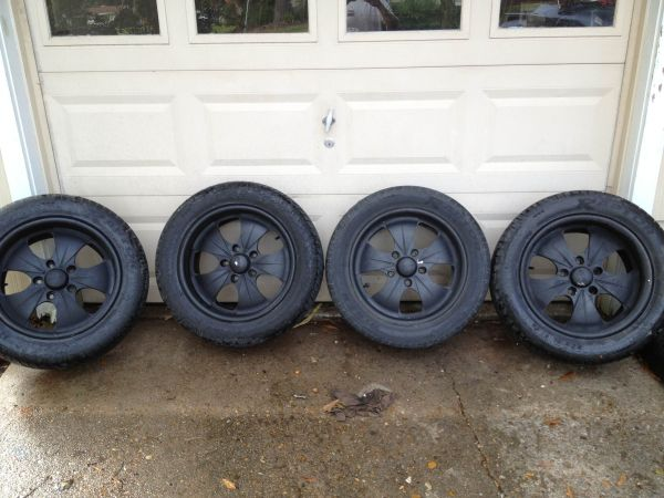 MHT 17 rims with Raptor tires - $300 (Beaumont)
