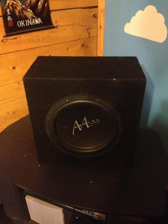 2 12 inch merlon audio subwoofers - $125 (Orange)