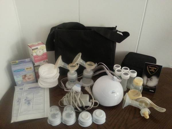 lightly used electric double breast pump  amp  accessories -   x0024 130