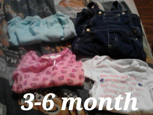 3-6 month baby girl stuff -   x0024 5  kountze